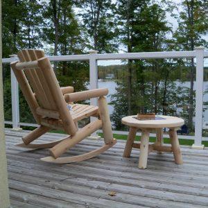 Adirondack Log Chair