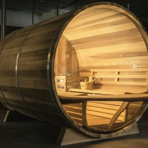Barrelsauna Red Cedar model Panorama BSP310