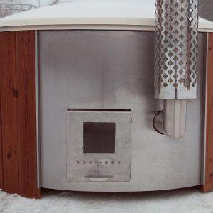 DeLuxe Hottub in Thermowood met houtkachel en GRATIS Waterstofzuiger