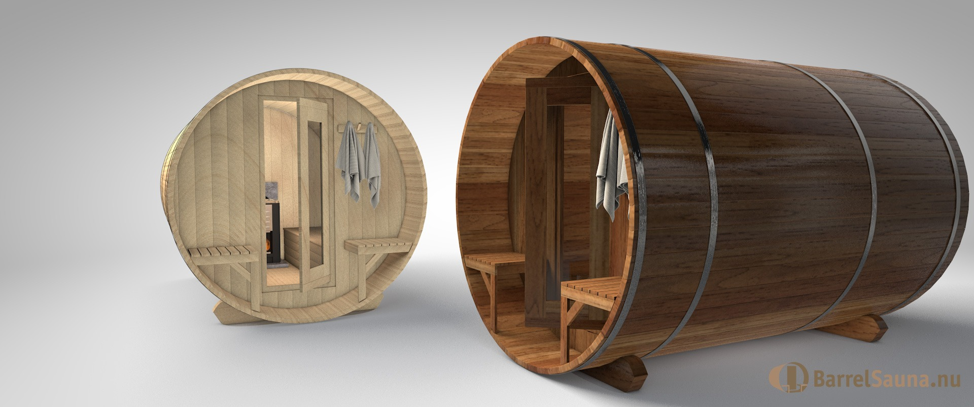 Barrelsauna red cedar