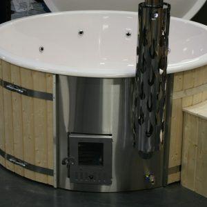 DeLuxe Hottub in Thermowood met houtkachel en GRATIS Zand en UV filter